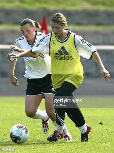 WM 2003 in den USA Portland Nationalmannschaft Deutschland/Training Pia WUNDERLICH Sonja FUSS/GER