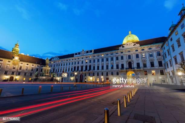 In der Burg square in Vienna