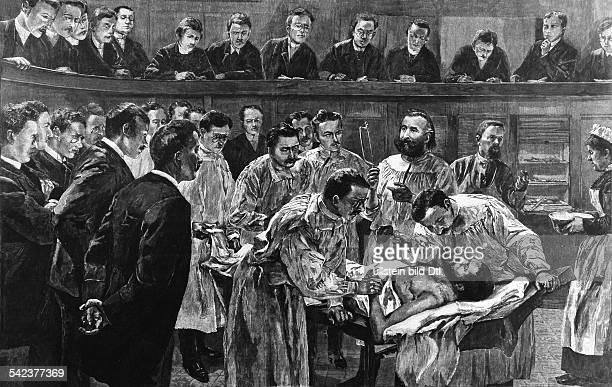 in der Chirurgischen Universitätsklinikzu Berlin 1891Zeichnung von Werner Zehme