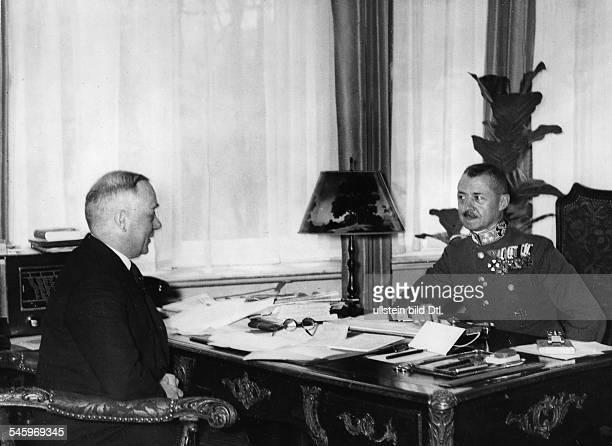 In der ungarischen Gesandtschaft inBerlin der als Gast vonReichskriegsminister GeneralfeldmarschallWerner v Blomberg in Berlin weilendeHonvedMinister...