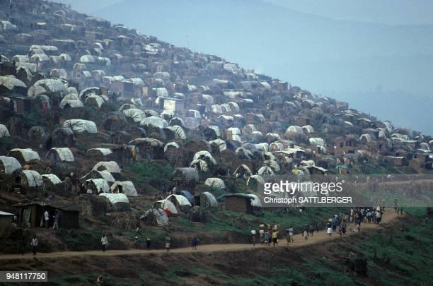 In displaced persons camp Nyacyonga near Kigali