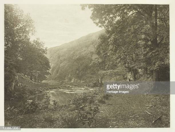In Dove Dale, 1880s. A work made of photogravure, plate xliii from the album 'the compleat angler or the contemplative man's recreation, volume ii' ;...