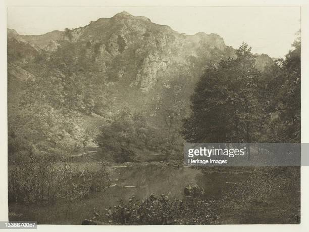 In Dove Dale, 1880s. A work made of photogravure, plate xliv from the album 'the compleat angler or the contemplative man's recreation, volume ii' ;...