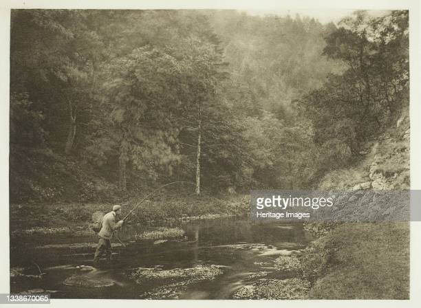 In Dove Dale. 'Habet!', 1880s. A work made of photogravure, plate xxxviii from the album 'the compleat angler or the contemplative man's recreation,...