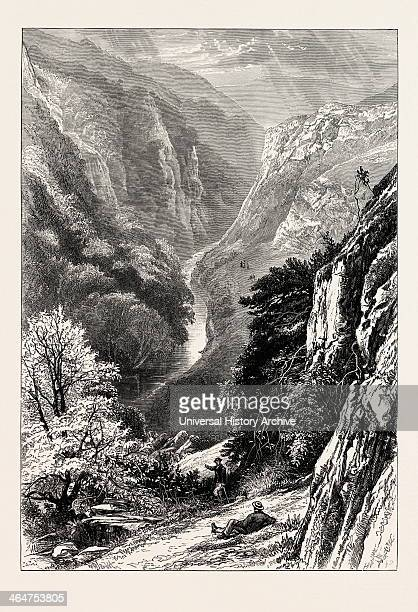 In Dove Dale UK Great Britain United Kingdom 19th Century Engraving