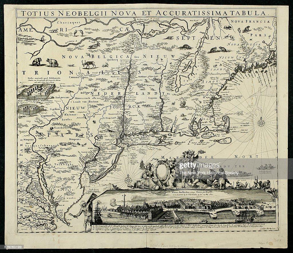 Totius Neobelgii nova et accuratissima tabula, map, 1674 : News Photo