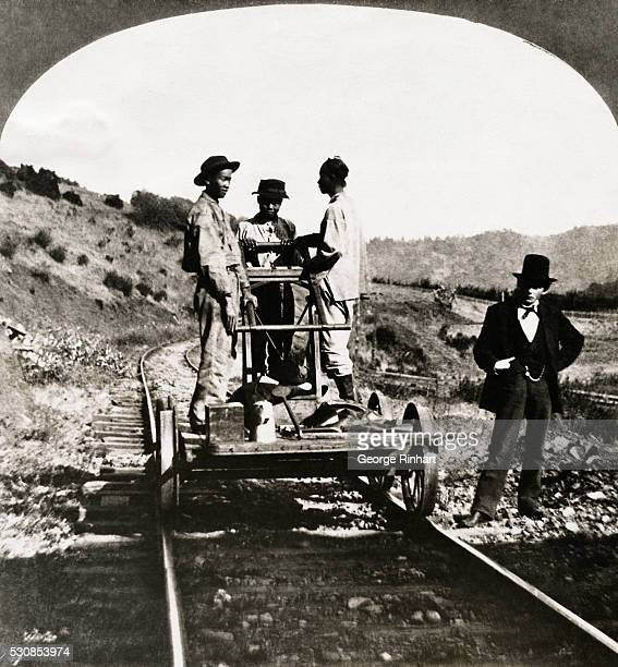 In early California thousands of Chinese immigrants were employed by the railroads to do the toughest work