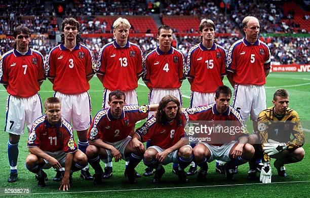 FUSSBALL EM 1996 in ENGLAND Manchester 090696 DEUTSCHLAND TSCHECHIEN 20 Team TSCHECHIEN