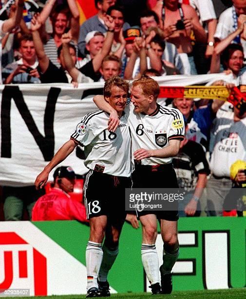 EM 1996 in ENGLAND Manchester RUSSLAND DEUTSCHLAND 03 Juergen KLINSMANN Matthias SAMMER/GER