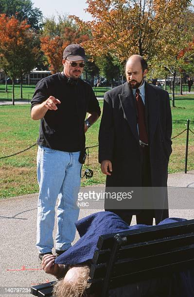 WING In Excelsis Deo Episode 10 Air Date Pictured Christopher Misiano Director Richard Schiff as Toby Ziegler Photo by Eric Liebowitz/NBCU Photo Bank