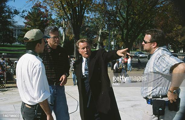 WING In Excelsis Deo Episode 10 Air Date Pictured Martin Sheen as President Josiah Jed Bartlet with various crew Photo by Eric Liebowitz/NBCU Photo...