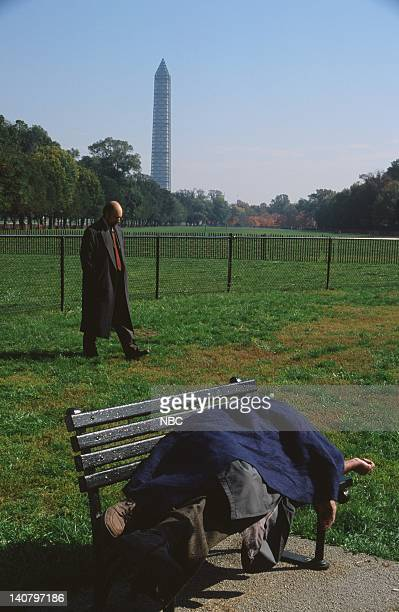 WING In Excelsis Deo Episode 10 Air Date Pictured Richard Schiff as Toby Ziegler Raynor Scheine as Homeless Man Photo by Eric Liebowitz/NBCU Photo...