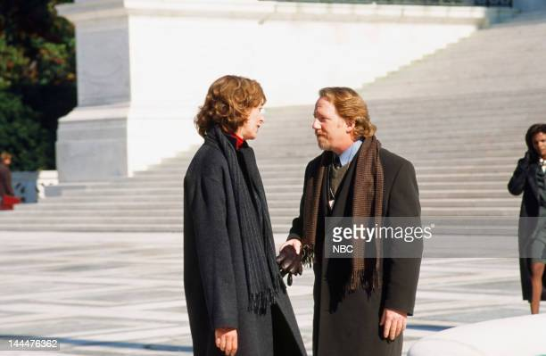HOUSE In Excelsis Deo Episode 10 Pictured Allison Janney as Claudia Jean 'CJ' Cregg Timothy Busfield as Danny Concannon