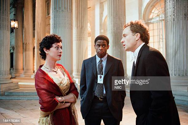 HOUSE In Excelsis Deo Episode 10 Pictured Moira Kelly as Mandy Hampton Dule Hill as Charlie Young Bradley Whitford as Josh Lyman