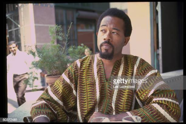 In exile from US Black Panther Eldridge Cleaver wearing dashiki