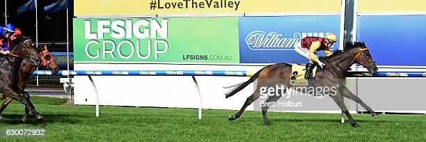 In Fairness ridden by Harry Coffey wins LF Sign Group Handicap at Moonee Valley Racecourse on December 16 2016 in Moonee Ponds Australia