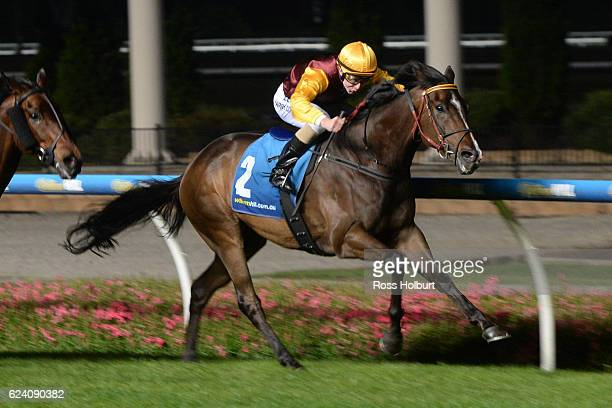 In Fairness ridden by Harry Coffey wins Marcus Oldham Agriculture Handicap at Moonee Valley Racecourse on November 18 2016 in Moonee Ponds Australia
