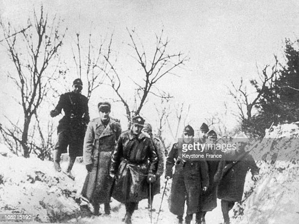 In February 1945 The Romanian General Nicolae Dascalescu The Commander Of The 4Th Romanian Army Led Romanian And Soviet Soldiers To The Front In...