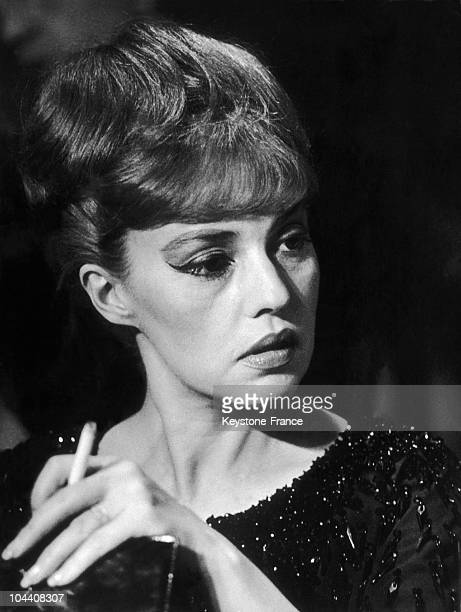 In February1962 the French actress Jeanne MOREAU takes a rest during the filming of EVA directed by Joseph LOSEY