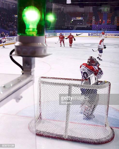 WM 2003 in Finnland Tampere Slowenien Weissrussland 34 Torlicht