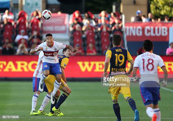 In first half action, Toronto FC defender Justin Morrow ...