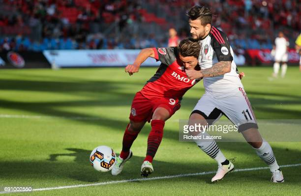 TORONTO ON MAY 31 In first half action Toronto FC forward Tsubasa Endoh and Ottawa's left wing Sito battle for the ball The TFC took on the Ottawa...