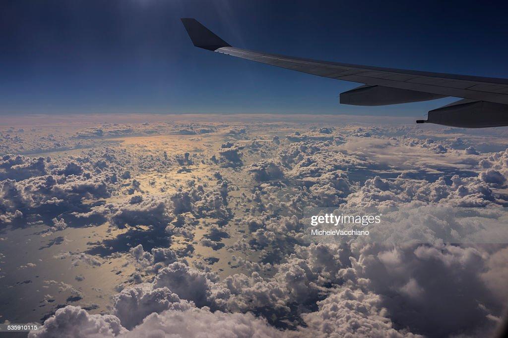 Inglés en vuelo por encima del canal : Foto de stock