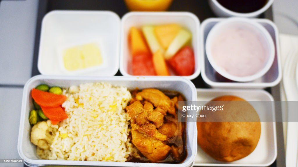 In Flight Meal - Economy Class : Stock Photo