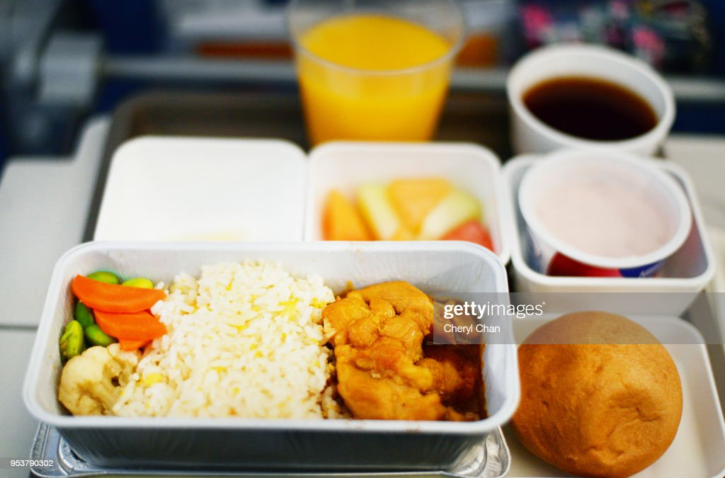 In Flight Meal - Economy Class : Foto de stock