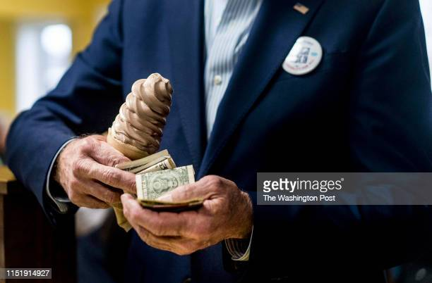 April 30: In former Vice President Joe Biden's first swing through Iowa as a Democratic Presidential candidate he stops in The Cone Shoppe for an ice...