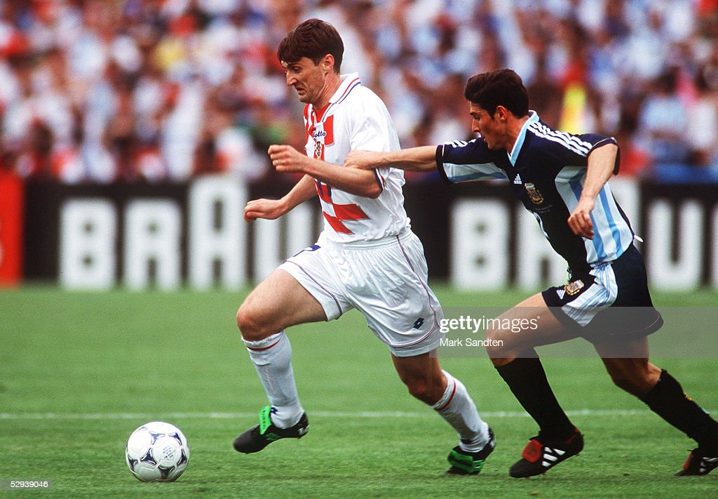 FUSSBALL: WM 1998 in FRANKREICH, ARG - CRO 1:0 : News Photo