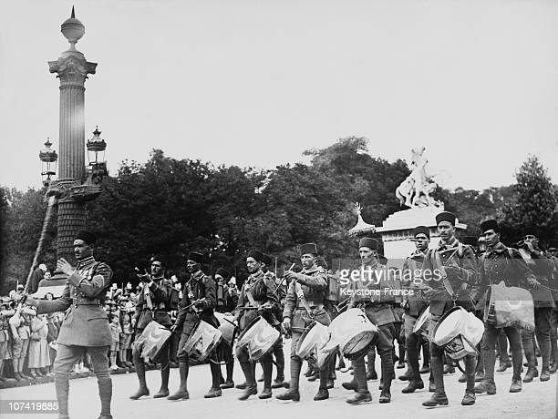 In French National Holiday Algerian Regiment Parade On July 14Th 1935
