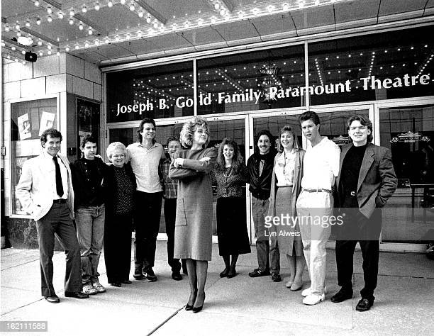 421989 In front of the Paramount Elizabeth Schlosser and staff Left to right see note Bill Asbury Shawn Stokes Carol Ann Quinn Peter Nielson Ray...