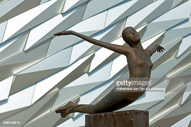 CONTENT] In front of the Titanic Belfast building is Titanica a sculpture depicting a diving female figure Made of bronze it is mounted on a brass...