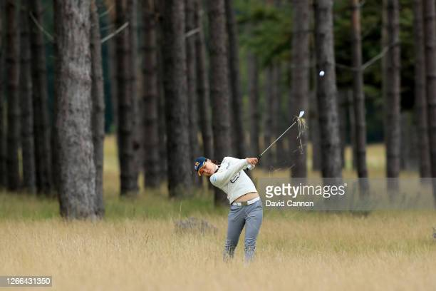 In Gee Chun of ASouth Korea plays her second shot on the second hole during the third round of the Aberdeen Standard Investments Ladies Scottish Open...