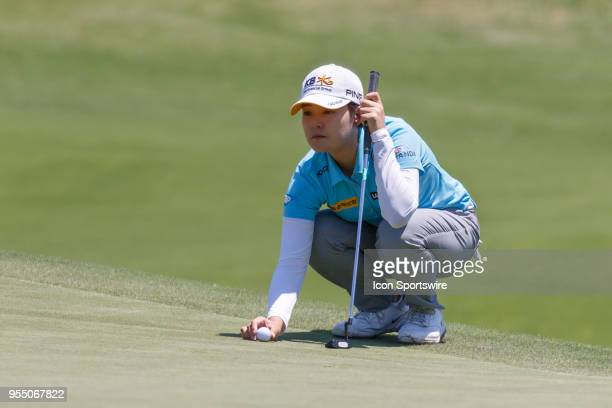 In Gee Chun of Korea lines up her putt on during the LPGA Volunteers of America Texas Classic on May 5 2018 at the Old American Golf Club in The...