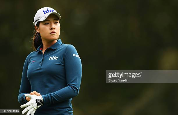 In Gee Chun of Korea looks on during the third round of The Evian Championship on September 17 2016 in EvianlesBains France