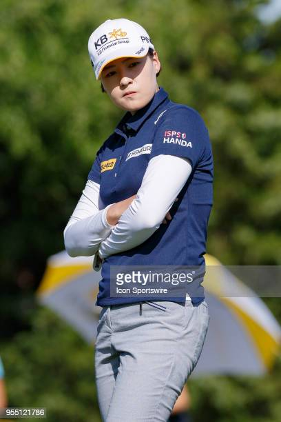 In Gee Chun of Korea looks over her putt on the third green during the LPGA Volunteers of America Texas Classic on May 5 2018 at the Old American...