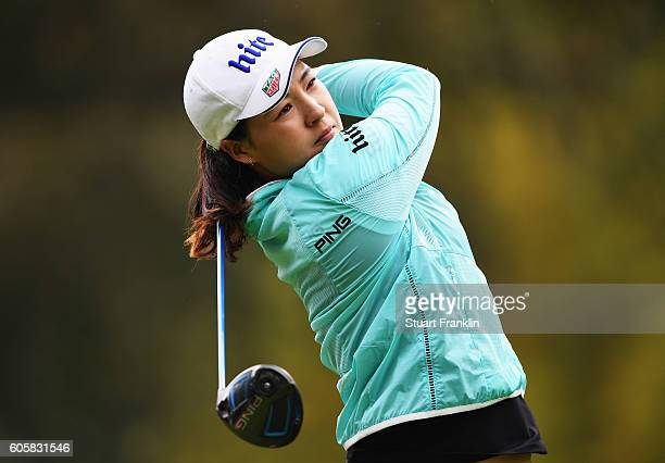 In Gee Chun of Korea plays a shot during the first round of The Evian Championship on September 15 2016 in EvianlesBains France