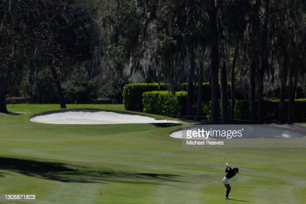 In Gee Chun of Korea plays a shot on the seventh hole during the final round of the LPGA Drive On Championship at Golden Ocala Golf Club on March 07,...