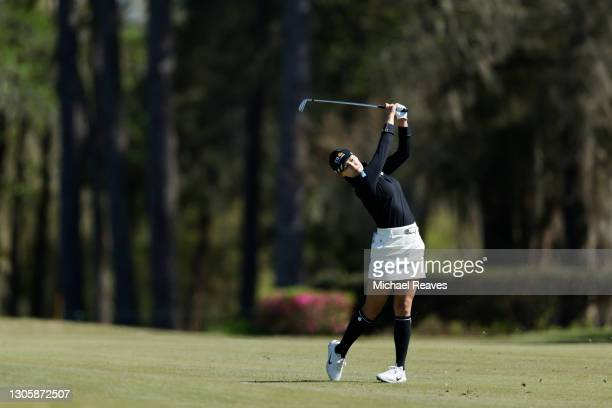 In Gee Chun of Korea plays a shot on the tenth hole during the final round of the LPGA Drive On Championship at Golden Ocala Golf Club on March 07,...