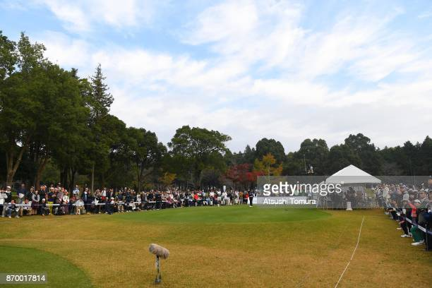 In Gee Chun of South Korea hits her tee shot on the 1st hole during the second round of the TOTO Japan Classics 2017 at the Taiheiyo Club Minori...