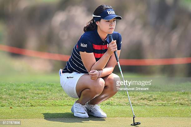 In Gee Chun of South Korea looks on during day four of the 2016 Honda LPGA Thailand at Siam Country Club on February 28 2016 in Chon Buri Thailand