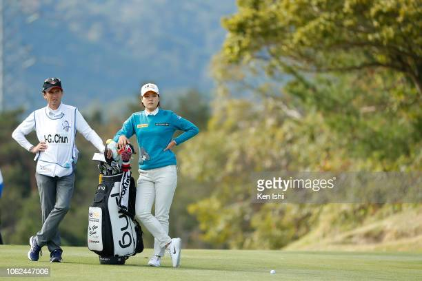 In Gee Chun of South Korea looks on during the first round of the TOTO Japan Classic at Seta Golf Course on November 02 2018 in Otsu Shiga Japan
