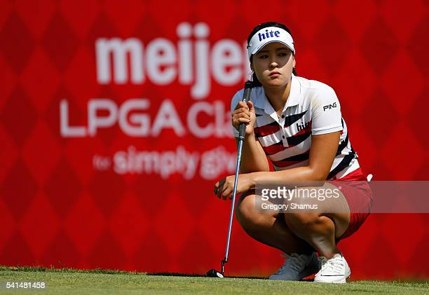 In Gee Chun of South Korea looks on while on the 16th green during the final round of the Meijer LPGA Classic on June 19 2016 at Blythefield Country...