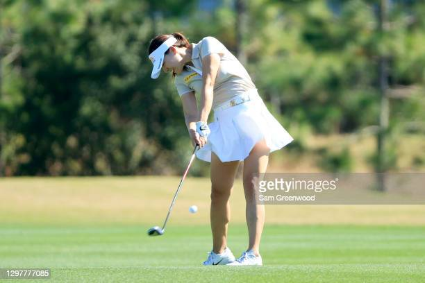 In Gee Chun of South Korea plays a shot on the seventh hole during the first round of the Diamond Resorts Tournament Of Champions at Tranquilo Golf...