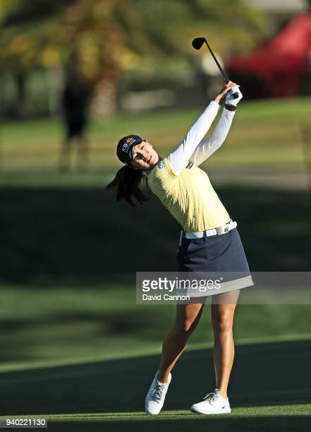 In Gee Chun of South Korea plays her second shot on the par 5, second hole during the second round of the 2018 ANA Inspiration on the Dinah Shore...