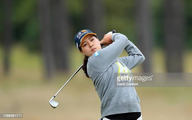 In Gee Chun of South Korea plays her second shot on the second hole during the final round of the Aberdeen Standard Investments Ladies Scottish Open...