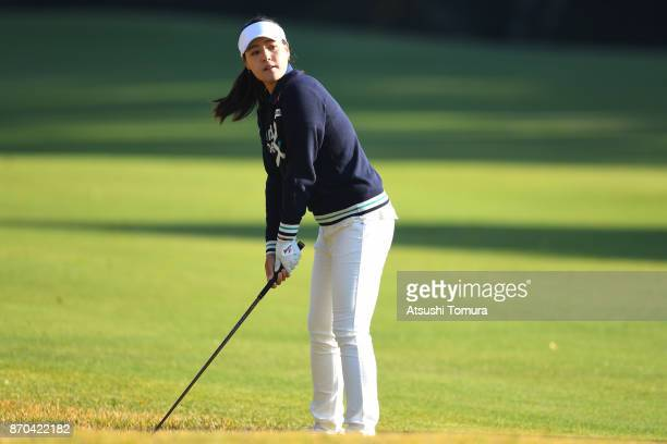 In Gee Chun of South Korea prepares to hit her second shot on the 1st hole during the final round of the TOTO Japan Classics 2017 at the Taiheiyo...