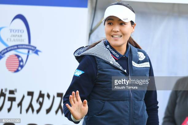 In Gee Chun of South Korea smiles during the final round of the TOTO Japan Classics 2017 at the Taiheiyo Club Minori Course on November 5 2017 in...